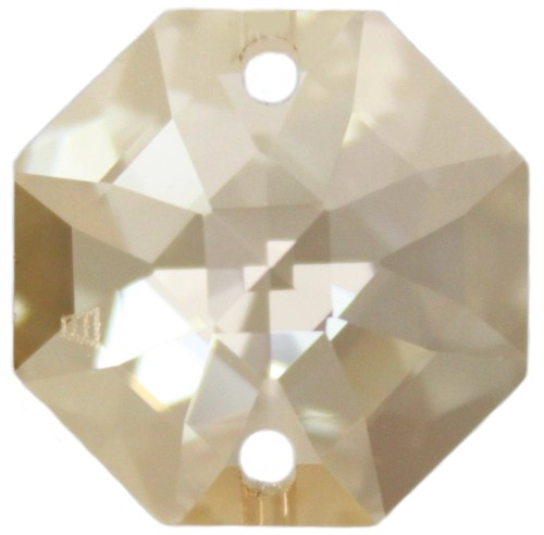 5x Oktagon 14mm crystal golden shadow - Swarovski® Kristalle