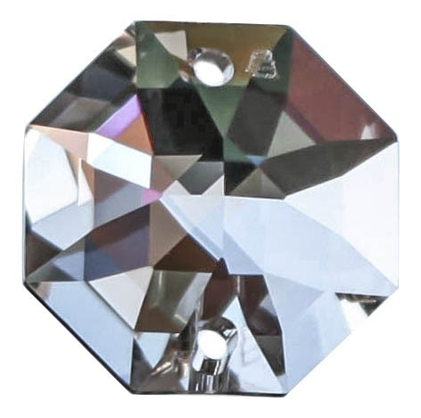 10x Oktagon 10mm 2 Löcher klar/ crystal clear - Swarovski® Kristalle