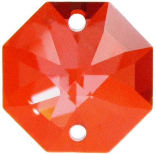 5x Oktagon 14mm crystal red magma - Swarovski® Kristalle